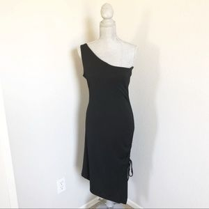White House Black Market One Shoulder Dress Small